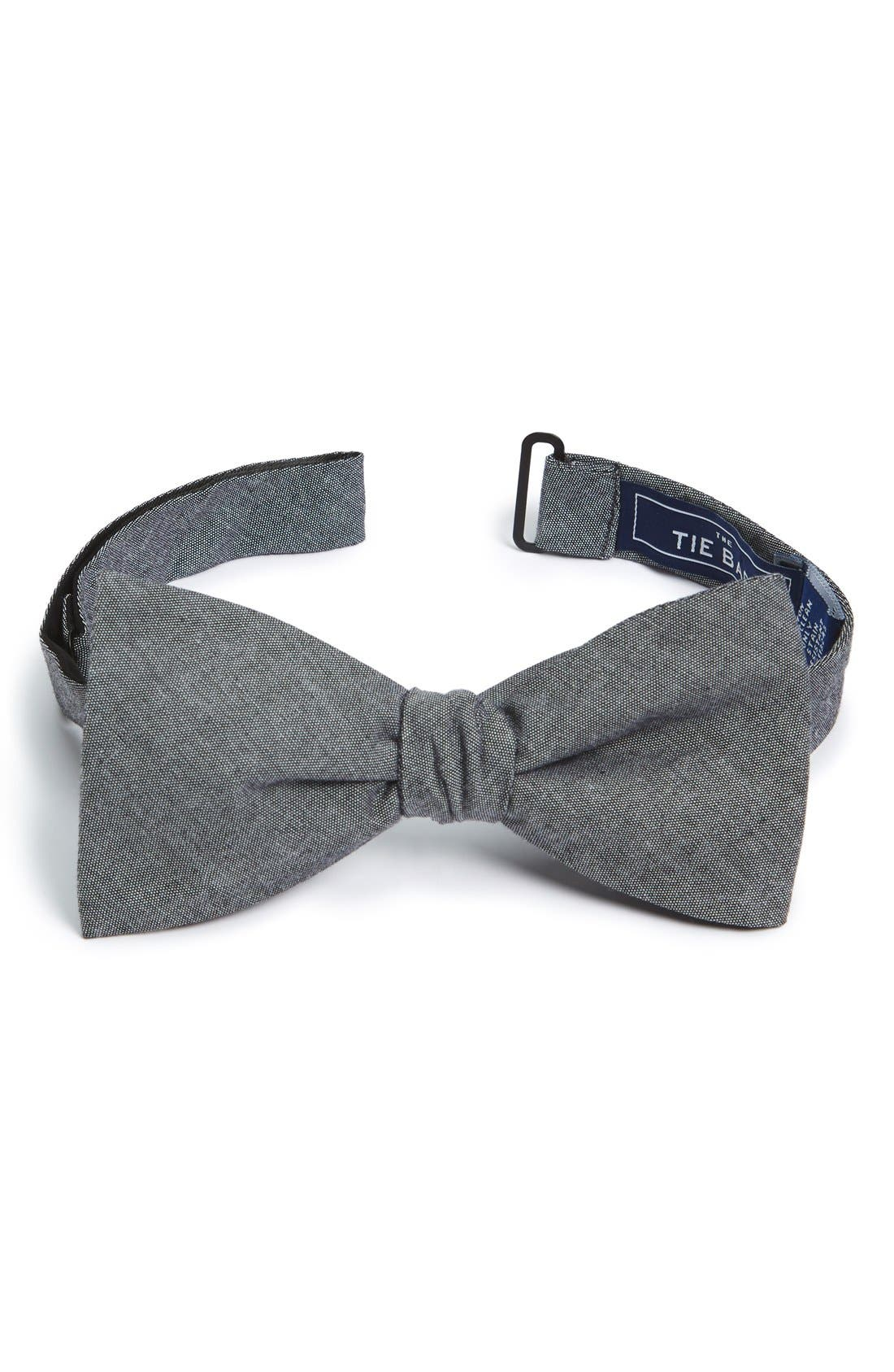 1920s Bow Ties | Gatsby Tie,  Art Deco Tie Mens The Tie Bar Cotton Bow Tie Size One Size - Grey $19.00 AT vintagedancer.com
