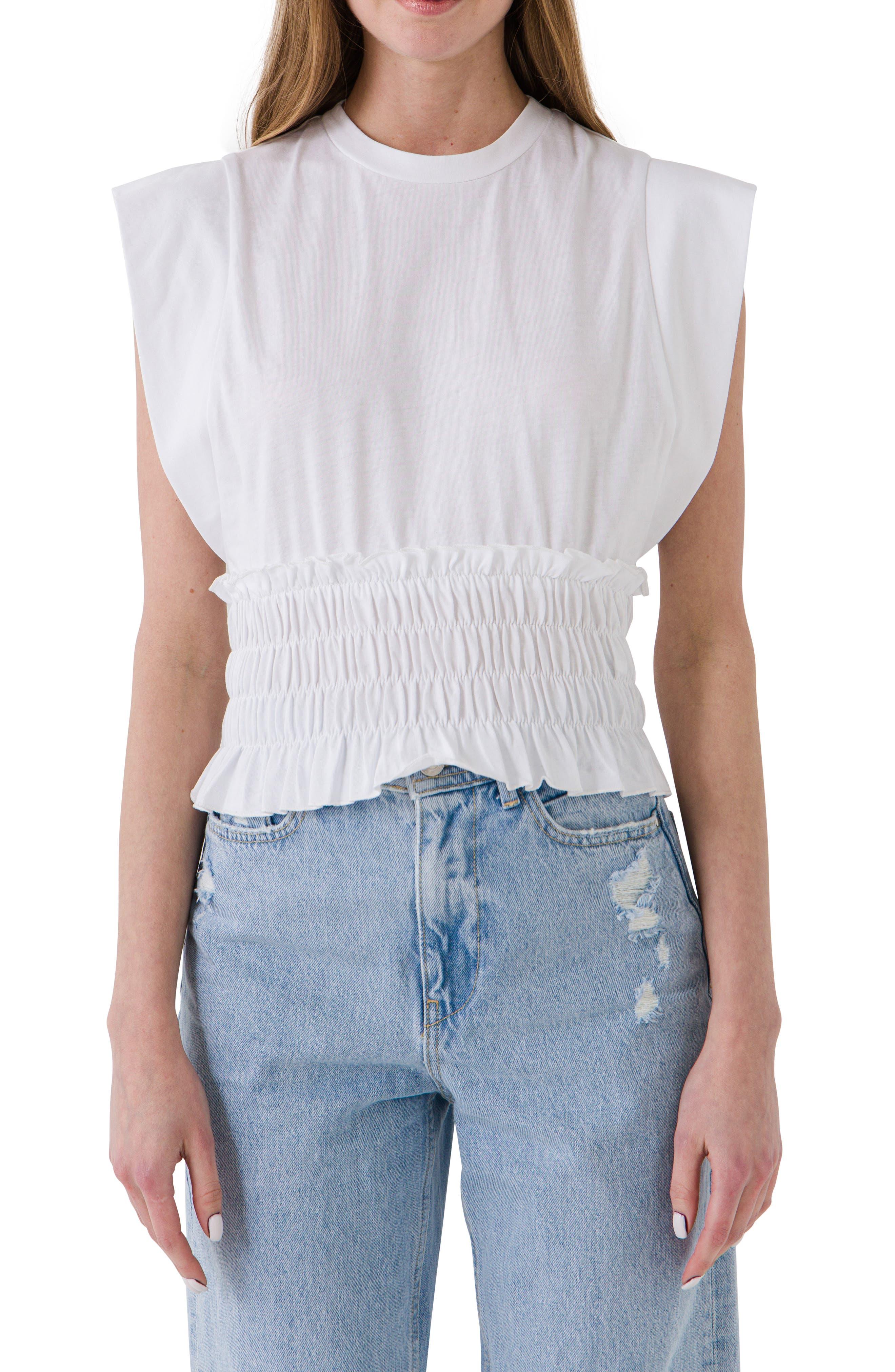 Smocked Waist T-Shirt