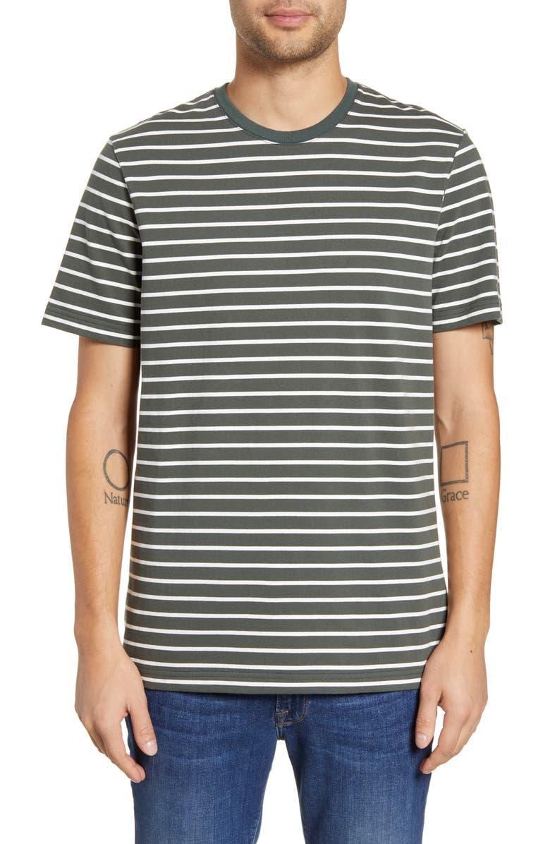 WINGS + HORNS Stripe T-Shirt, Main, color, PINE STRIPE