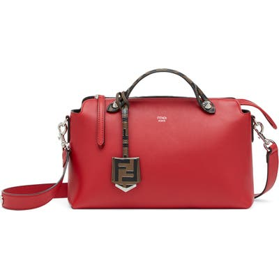 Fendi Medium By The Way Leather Shoulder Bag - Red