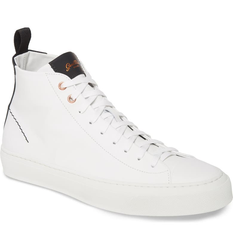 GOOD MAN BRAND Legacy High Top Sneaker, Main, color, WHITE / BLACK CALF SUEDE