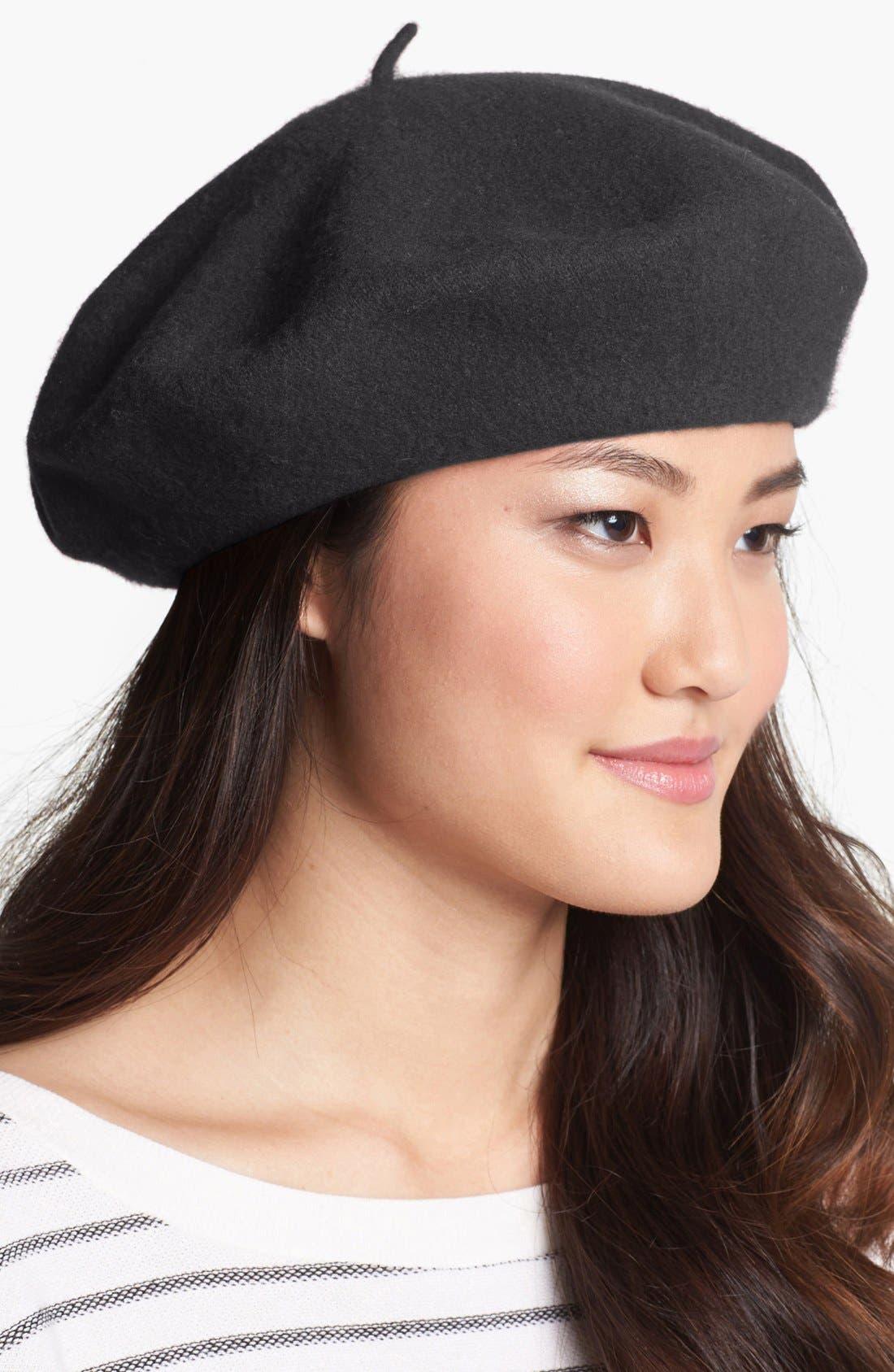 ,                             'Basic' Wool Beret,                             Main thumbnail 2, color,                             021