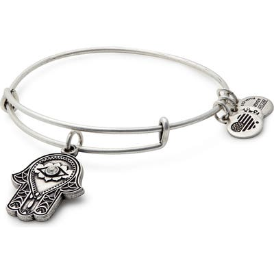 Alex And Ani Hand Of Fatima Adjustable Wire Bangle
