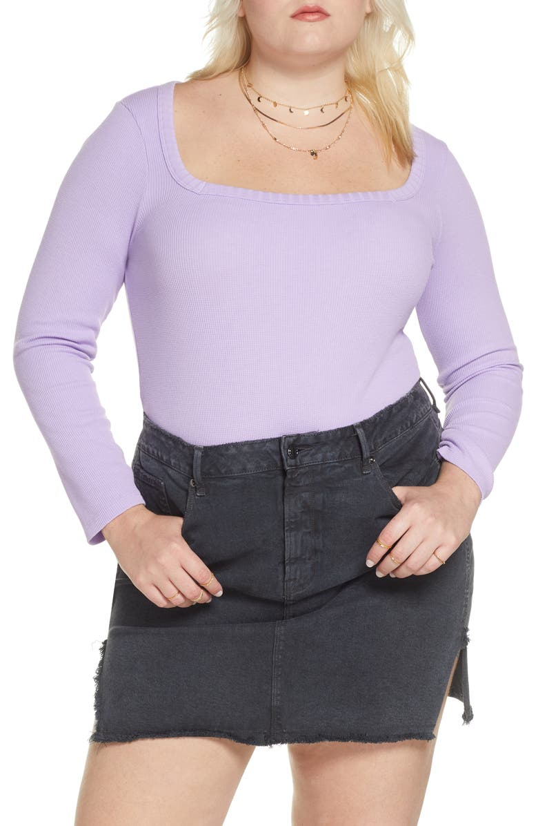 BP. x Claudia Sulewski Square Neck Thermal Top, Main, color, 510