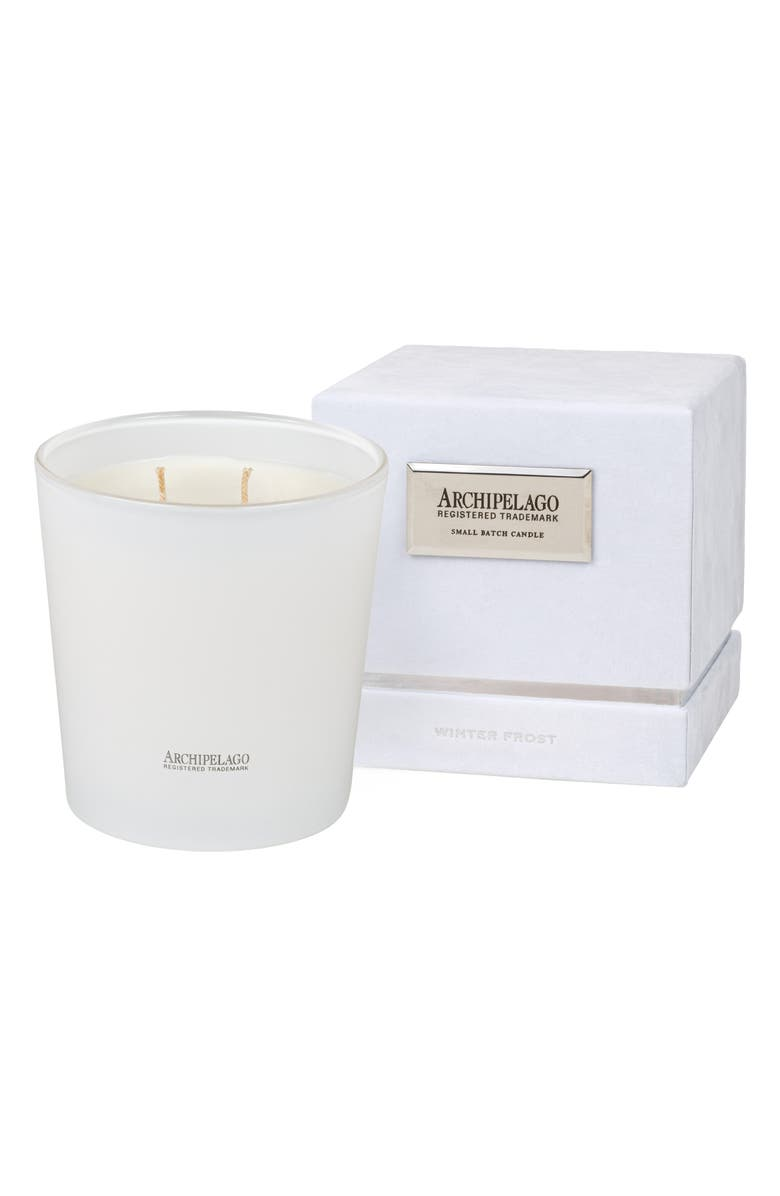 ARCHIPELAGO BOTANICALS Winter Frost Soy Wax Candle, Main, color, WINTER FROST