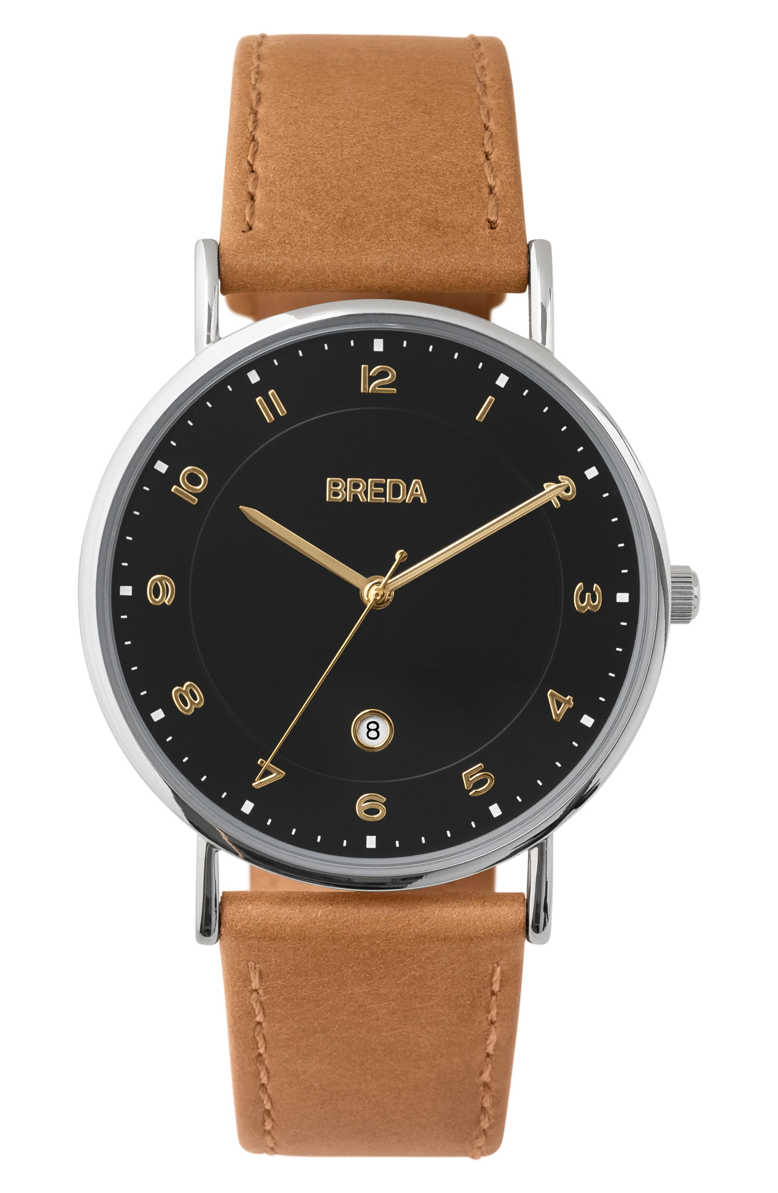 Pei Leather Strap Watch