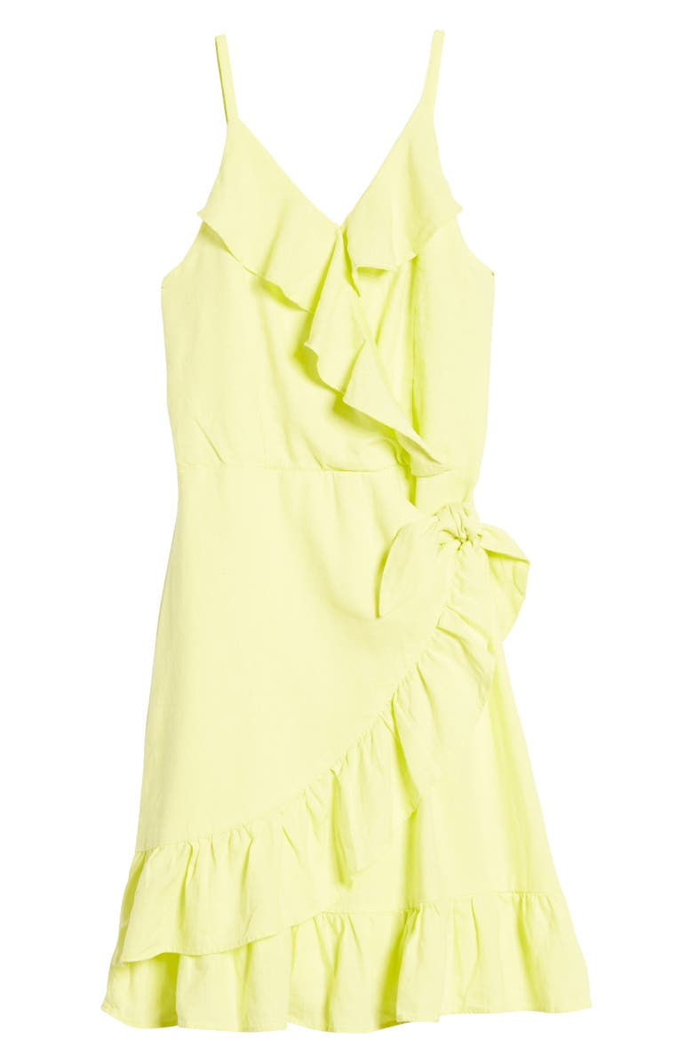 HABITUAL GIRL Ruffle Faux Wrap Dress, Main, color, 720