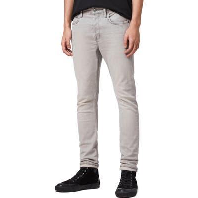 Allsaints Raveline Cigarette Skinny Fit Jeans, Grey
