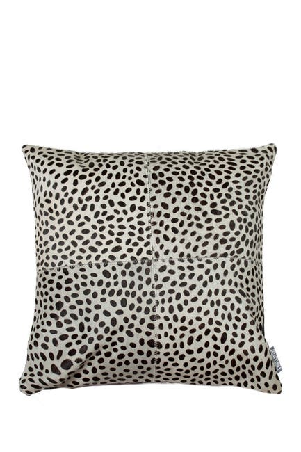 Image of Natural Torino Quatro Genuine Cowhide Pillow - Leopard