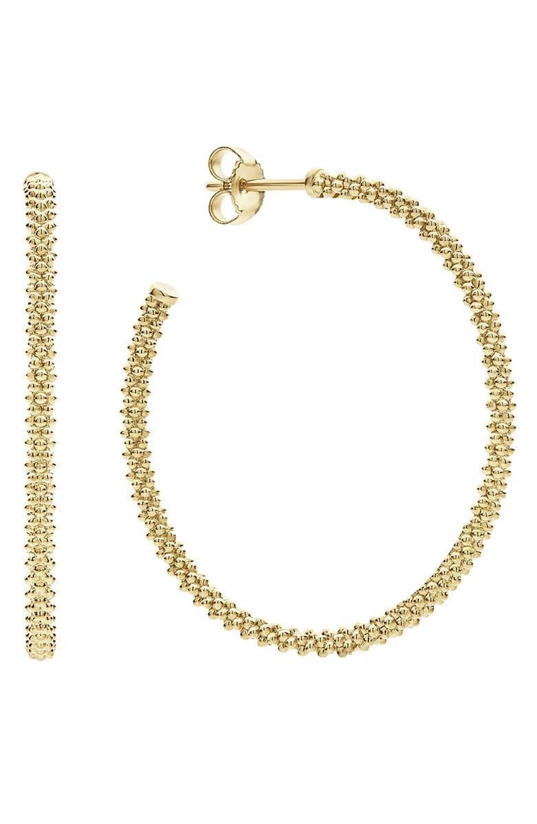 LAGOS 18K Large Hoop Earrings, Main, color, GOLD