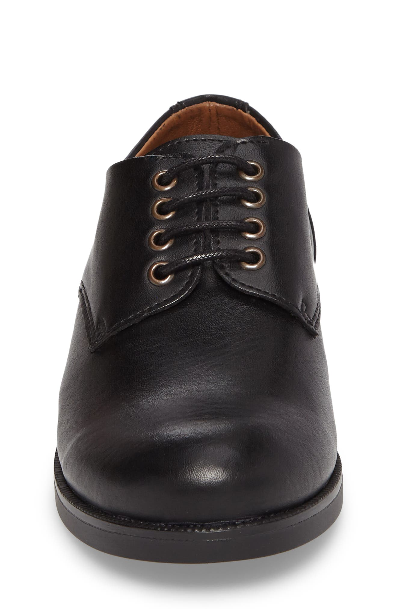 ,                             Kalb Plain Toe Oxford,                             Alternate thumbnail 4, color,                             BLACK LEATHER