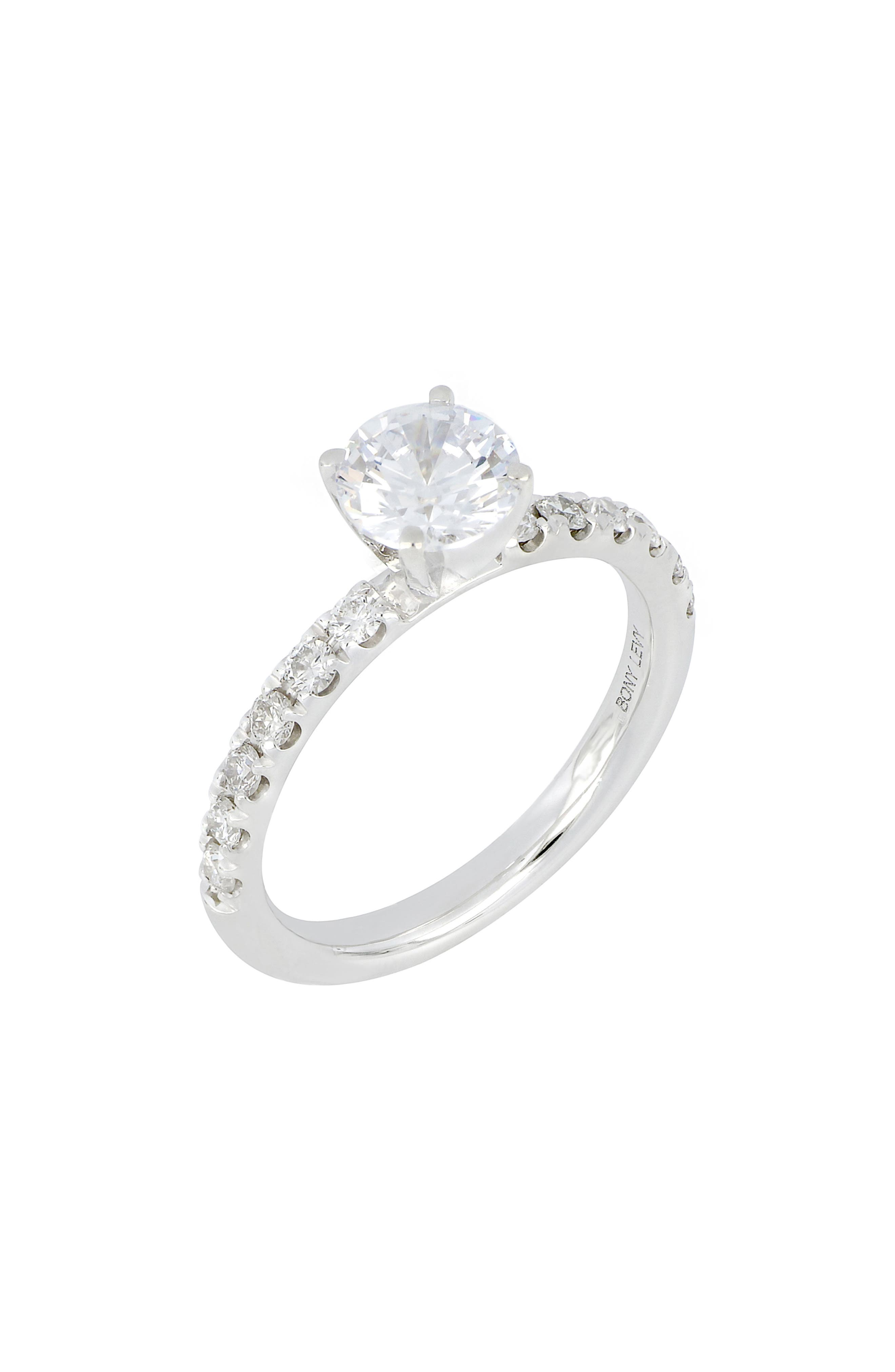 Pave Diamond Round Engagement Ring Setting (Nordstrom Exclusive)