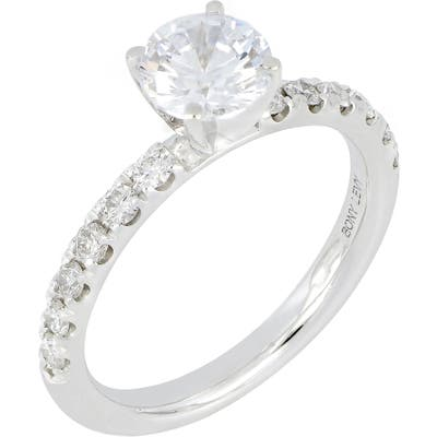 Bony Levy Pave Diamond Round Engagement Ring Setting (Nordstrom Exclusive)