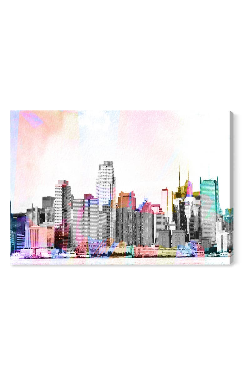 OLIVER GAL NYC Bright Lights Canvas Wall Art, Main, color, WHITE