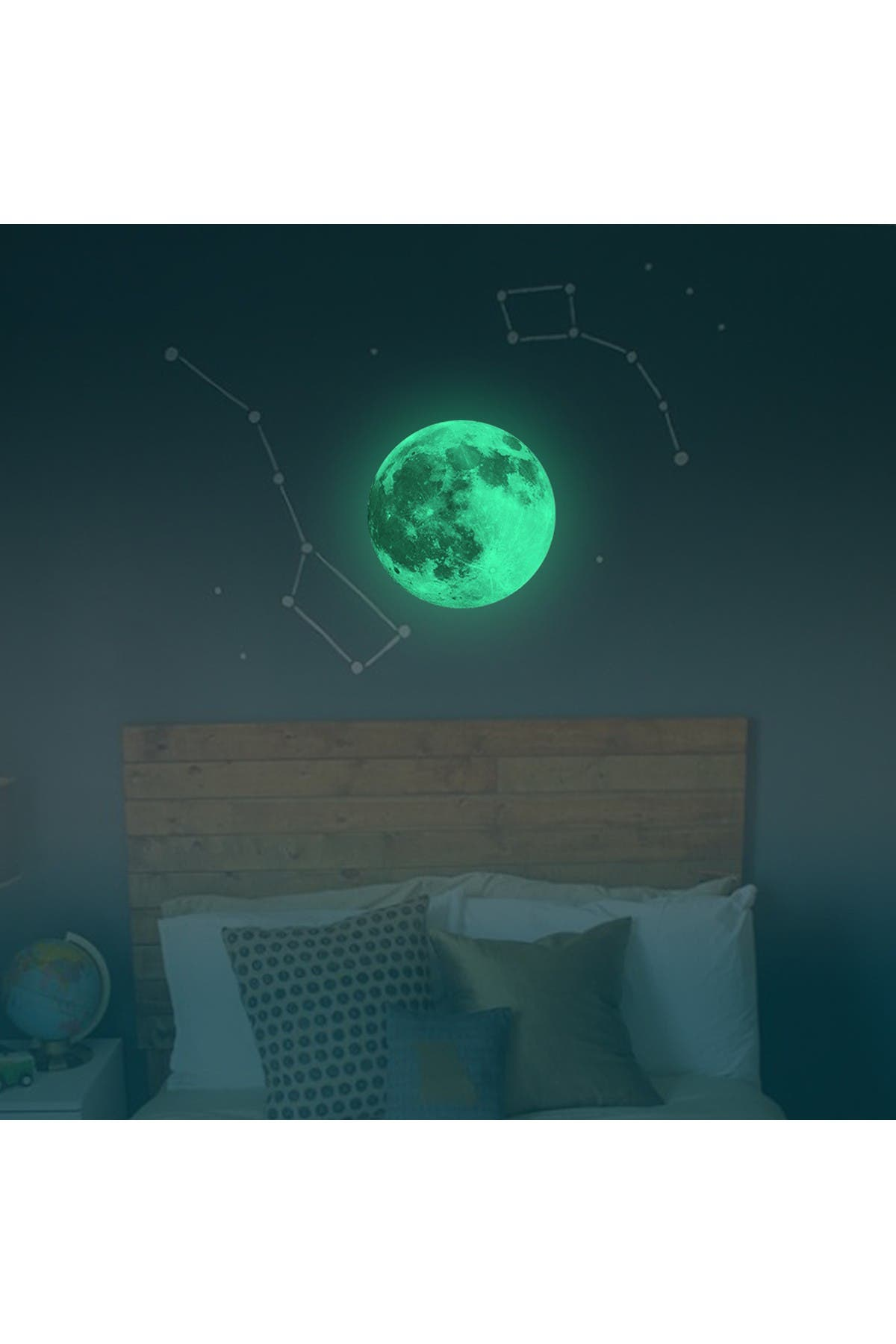 Image of WalPlus Glow In Dark Moon Decor