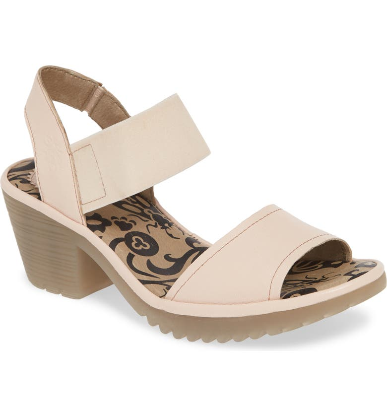 FLY LONDON Wost Block Heel Sandal, Main, color, NUDE PINK MOUSSE LEATHER