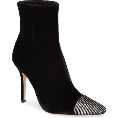 Gianvito Rossi Crystal Embellished Bootie - Black