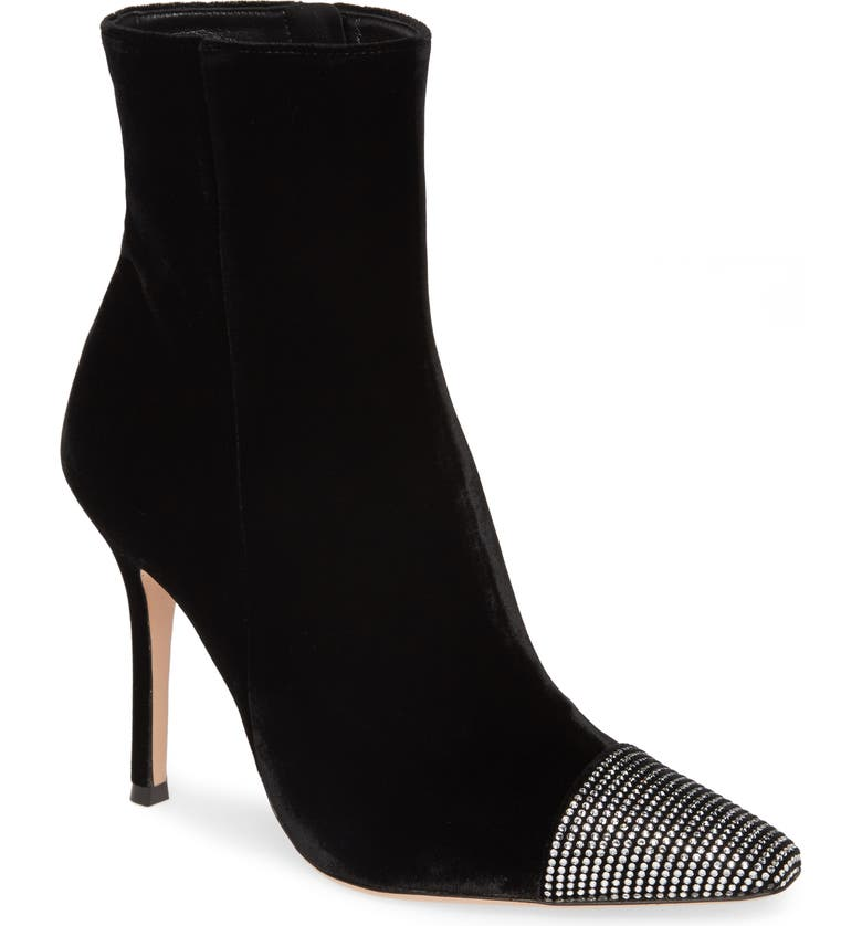 GIANVITO ROSSI Crystal Embellished Bootie, Main, color, BLACK