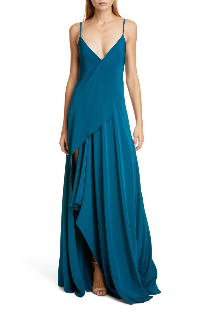 CUSHNIE Drape Panel Gown, Main, color, 440