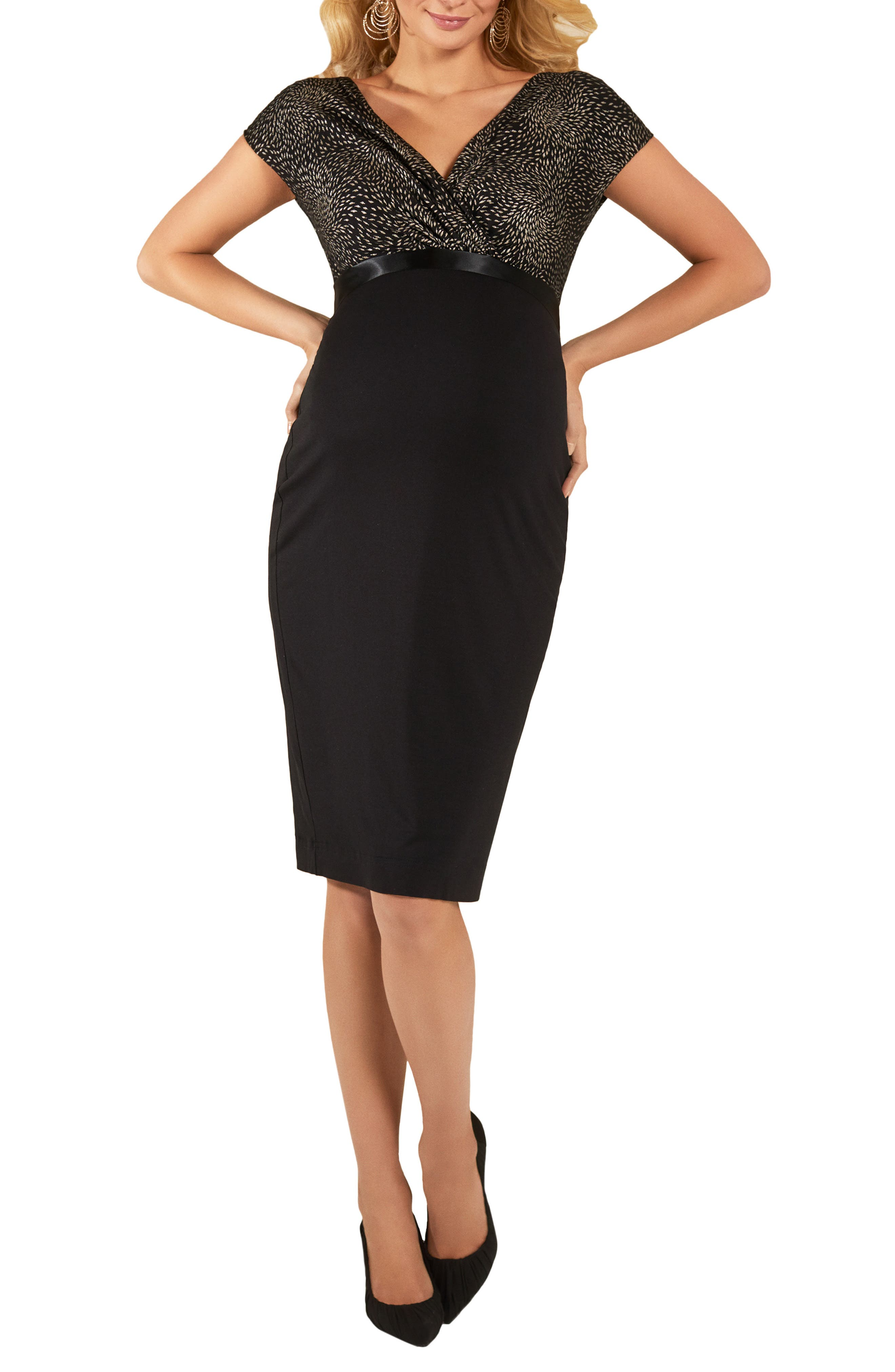 Tiffany Rose Maternity Sheath Dress, Metallic