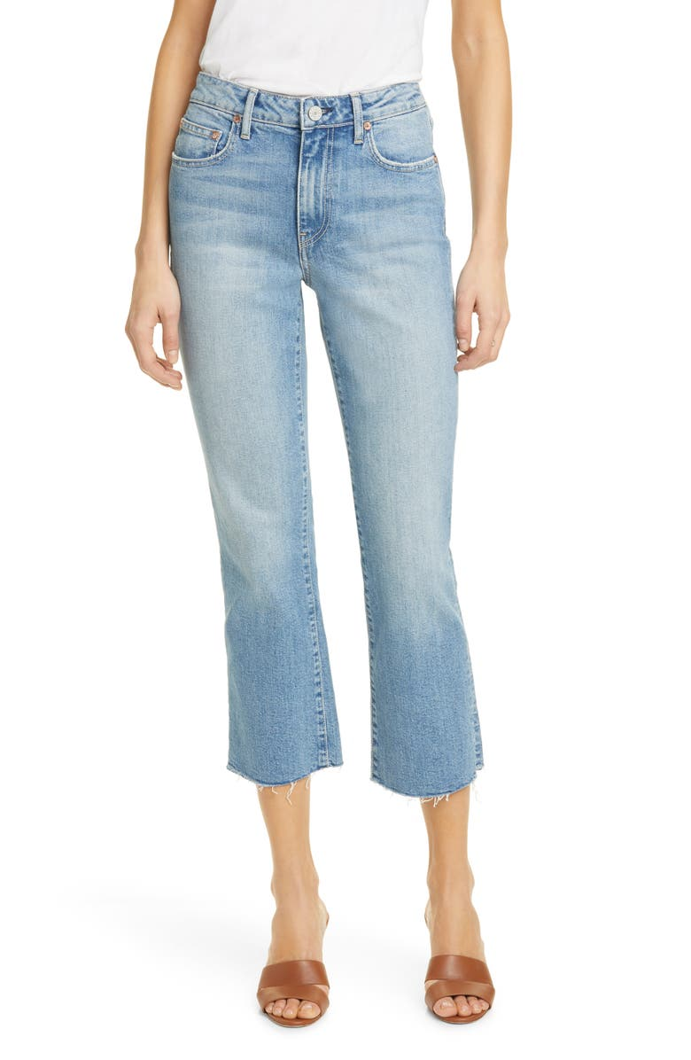 TRAVE Colette High Waist Crop Flare Jeans, Main, color, STAYIN ALIVE