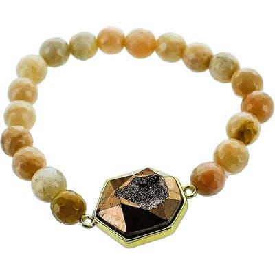 Panacea Drusy Stone Stretch Bracelet