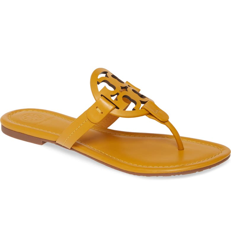TORY BURCH Miller Flip Flop, Main, color, GOLDENROD