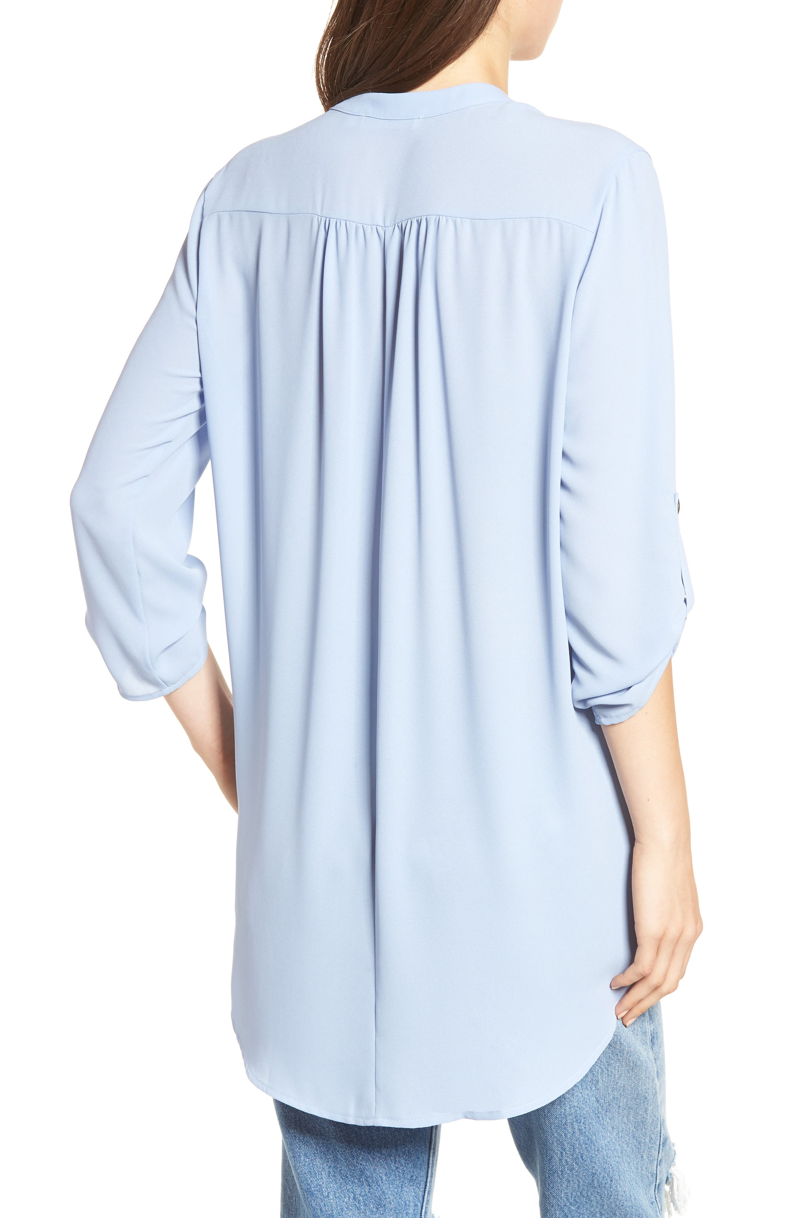 ,                             Perfect Roll Tab Sleeve Tunic,                             Alternate thumbnail 76, color,                             410