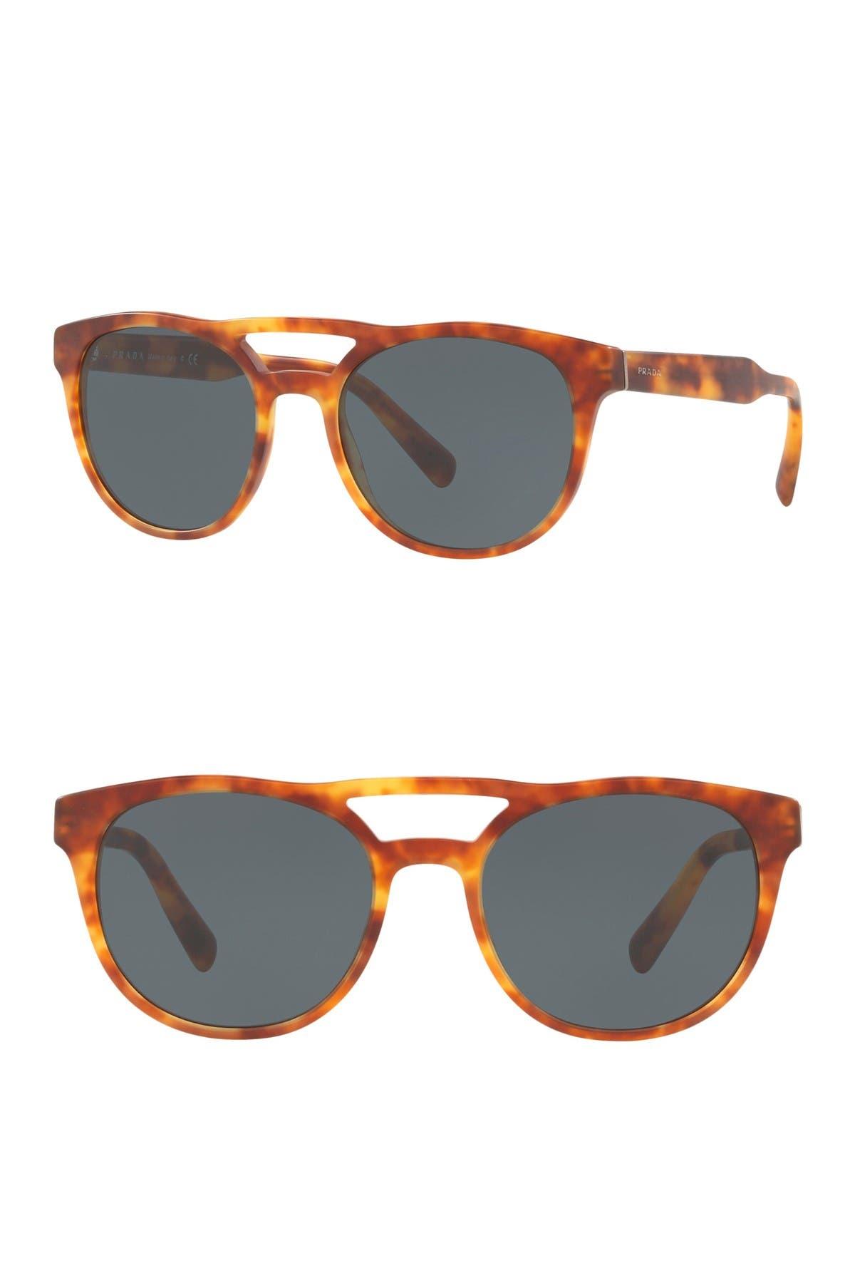 Image of Prada 54mm Square Sunglasses