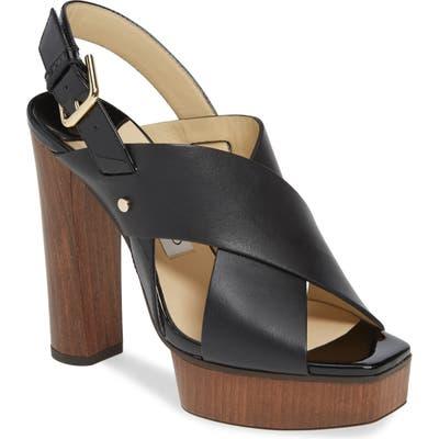 Jimmy Choo Aix Platform Slingback Sandal, Black
