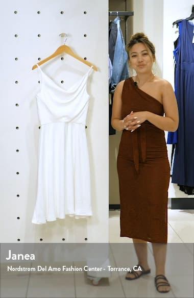 Jordyn Cowl Neck Satin Dress, sales video thumbnail