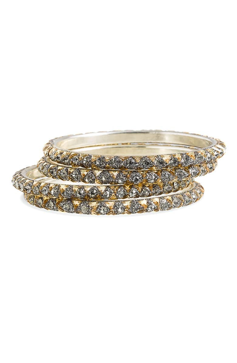 CHAMAK BY PRIYA KAKKAR Pyramid Stud Crystal Bangles, Main, color, 020