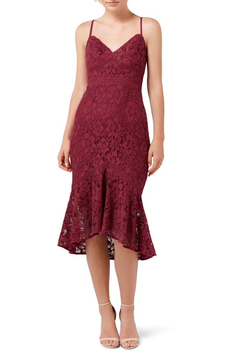 EVER NEW Petal Lace Midi Dress, Main, color, 600