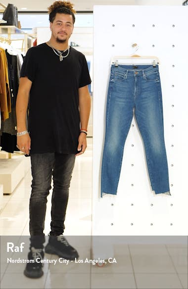 The Stunner Frayed Step Hem Skinny Jeans, sales video thumbnail