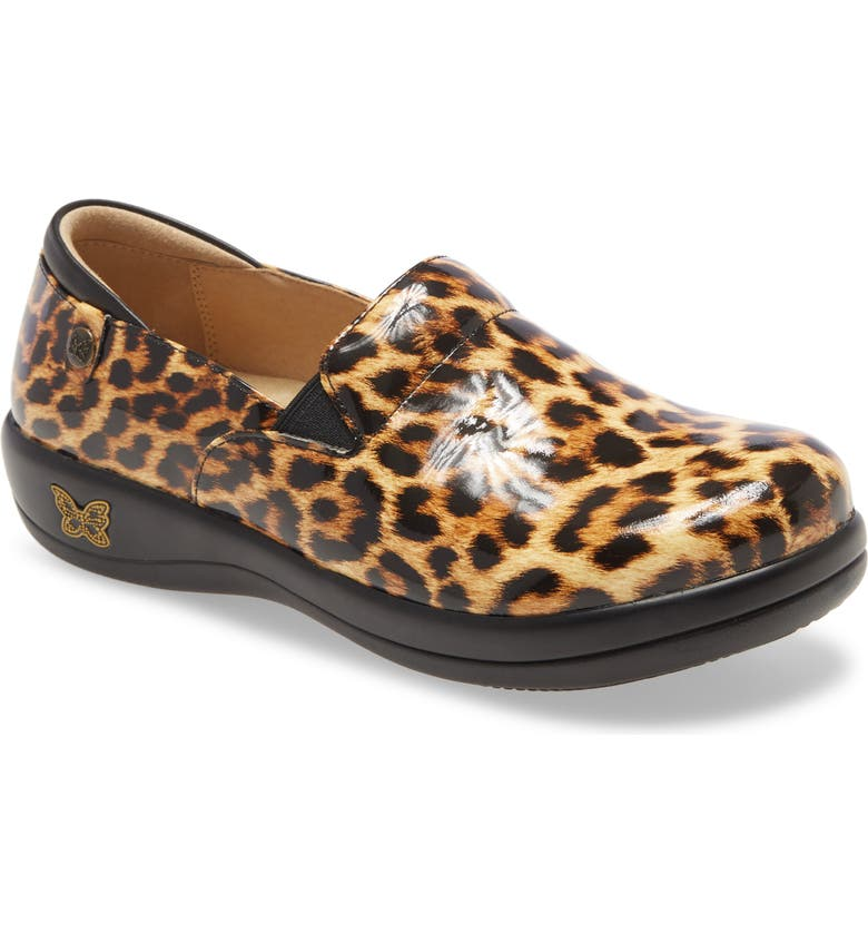 ALEGRIA 'Keli' Embossed Clog, Main, color, LEOPARD PRINT LEATHER