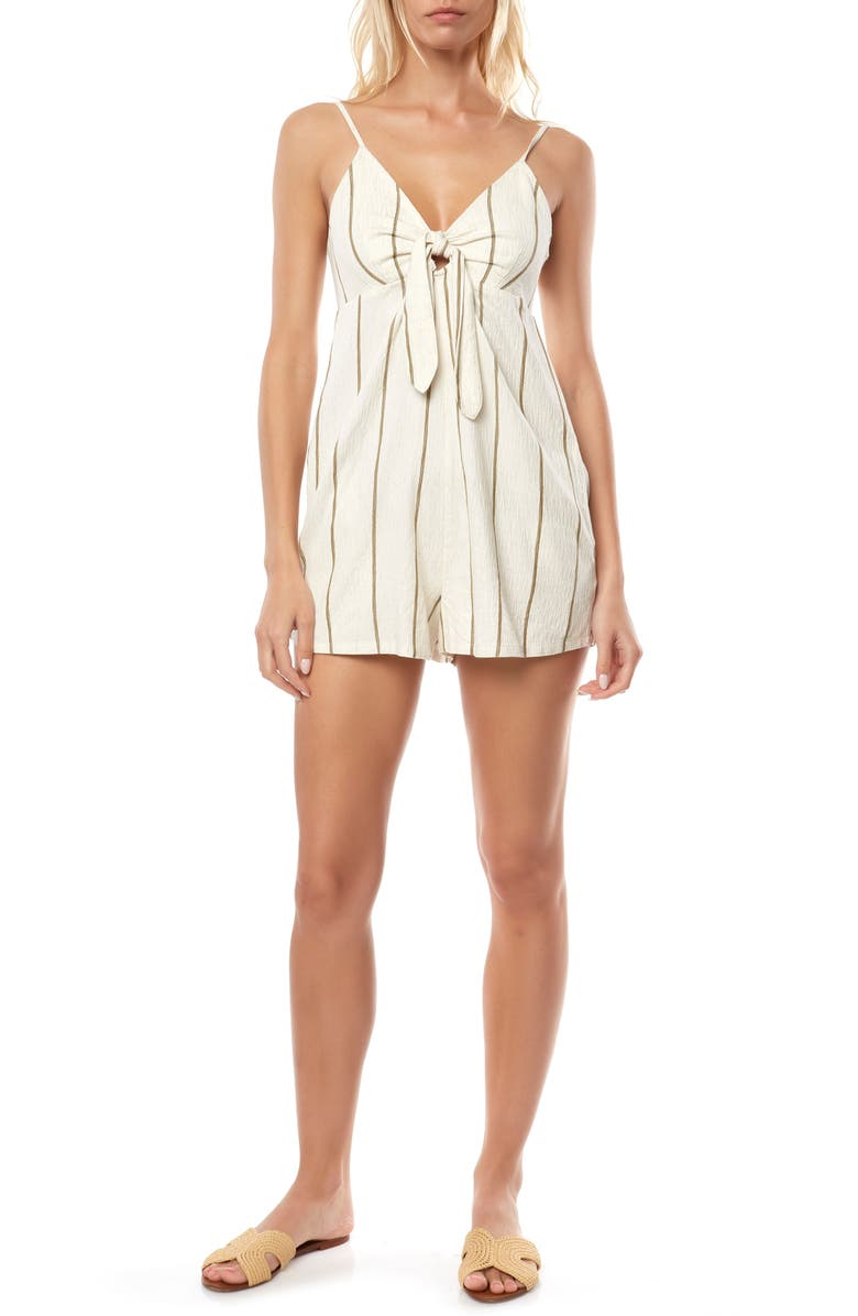 O'NEILL Kason Tie Front Romper, Main, color, NAKED