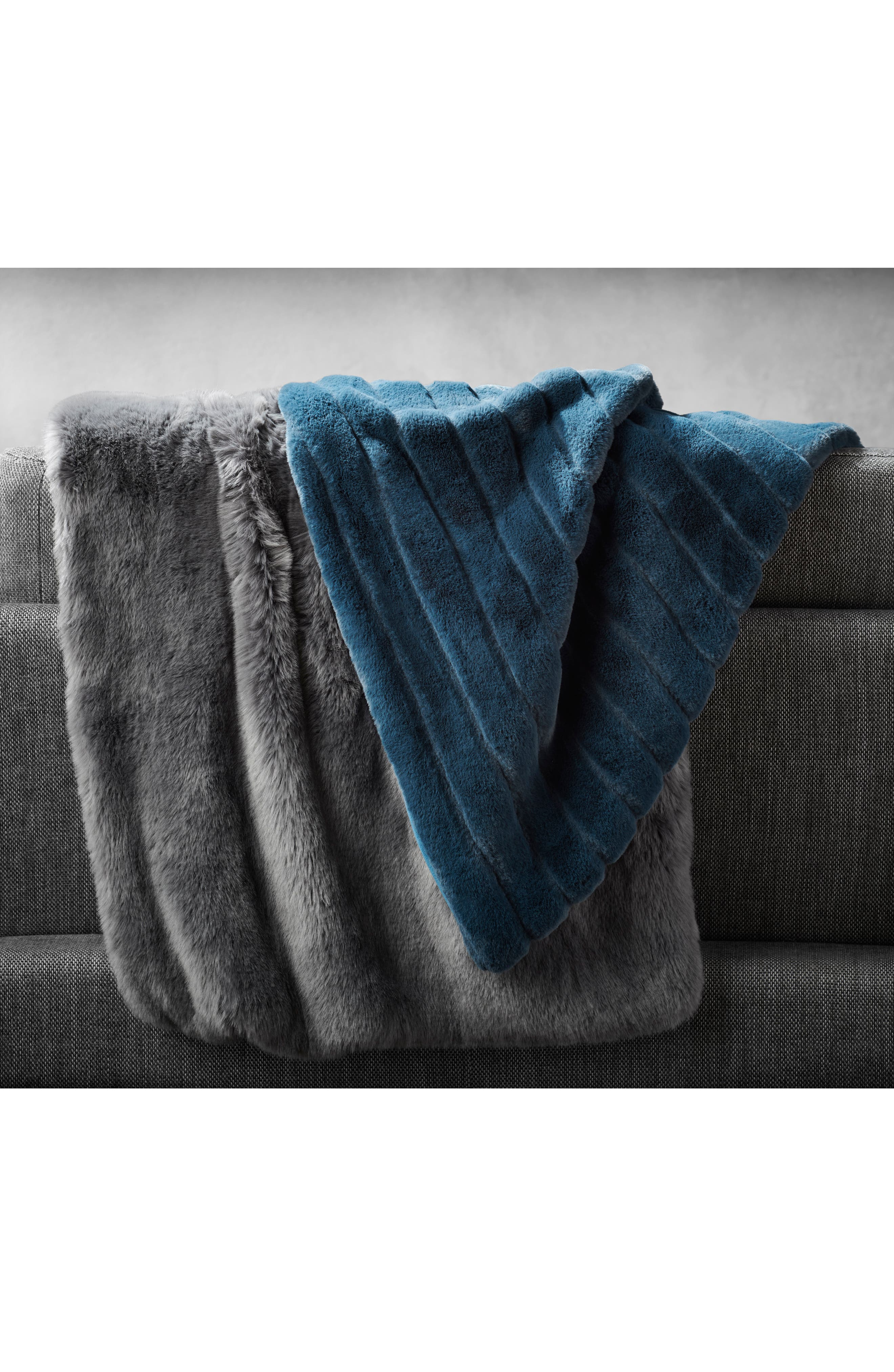 ,                             Kennebunk Bliss Plush Throw,                             Alternate thumbnail 5, color,                             GREY MAGNET