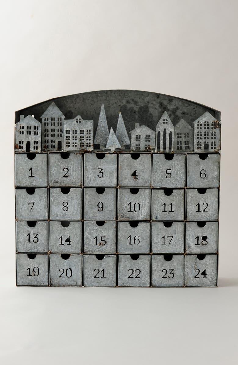 TERRAIN Concordville Metal Advent Calendar, Main, color, SILVER