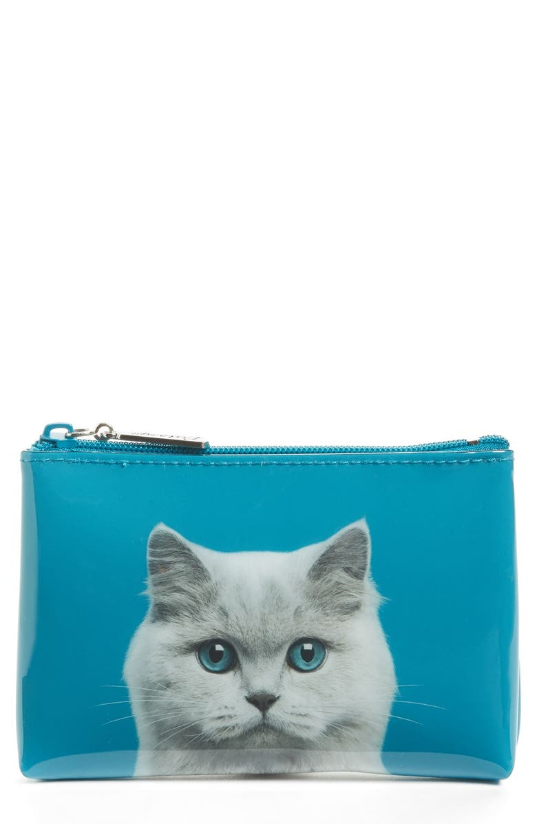 CATSEYE LONDON Small Cat Zip Pouch, Main, color, 400