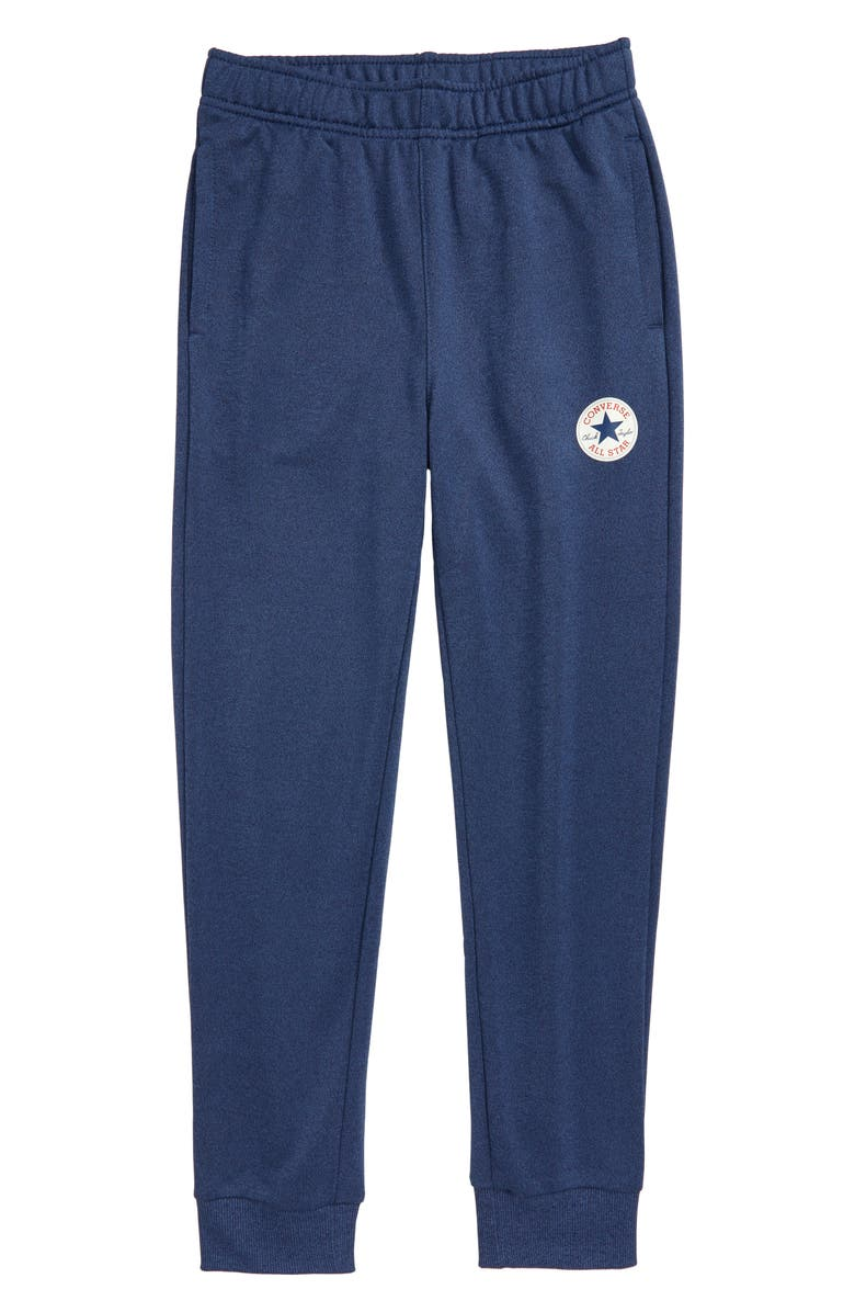 CONVERSE Chuck Taylor<sup>®</sup> All Star<sup>®</sup> Patch Solar Dri-FIT Jogger Pants, Main, color, BLACKENED BLUE HEATHER