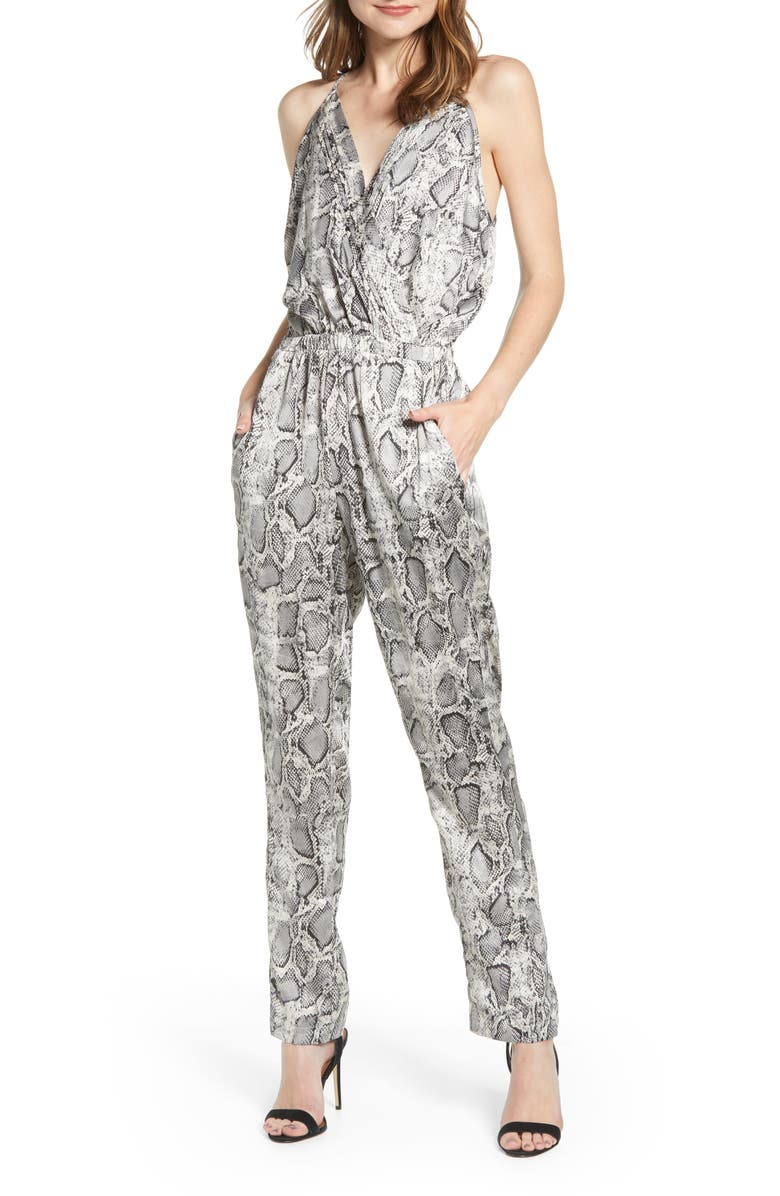 BISHOP + YOUNG Bishop & Young Wild Thing Snake Print Sleeveless Jumpsuit, Main, color, 200