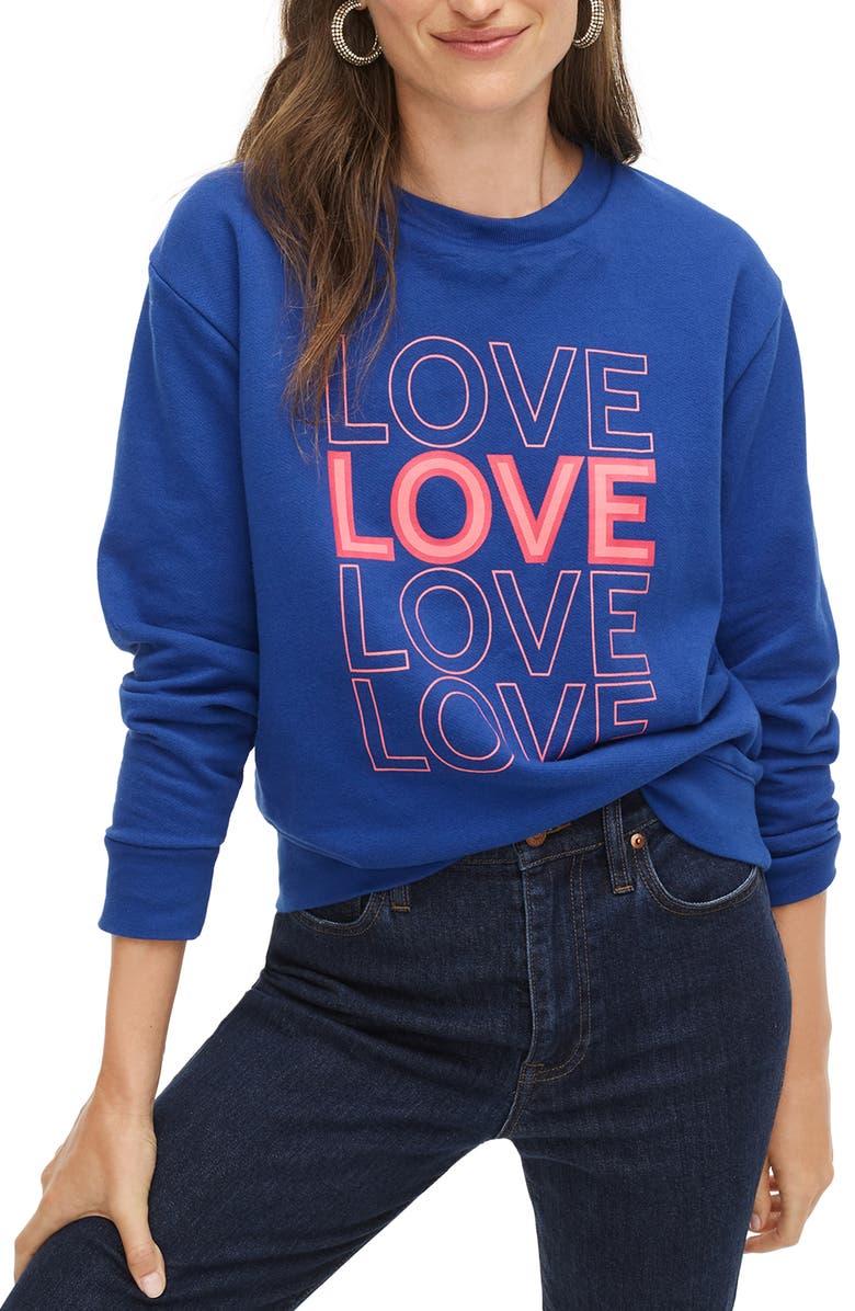 J.CREW LOVE Sweatshirt, Main, color, GULF COAST