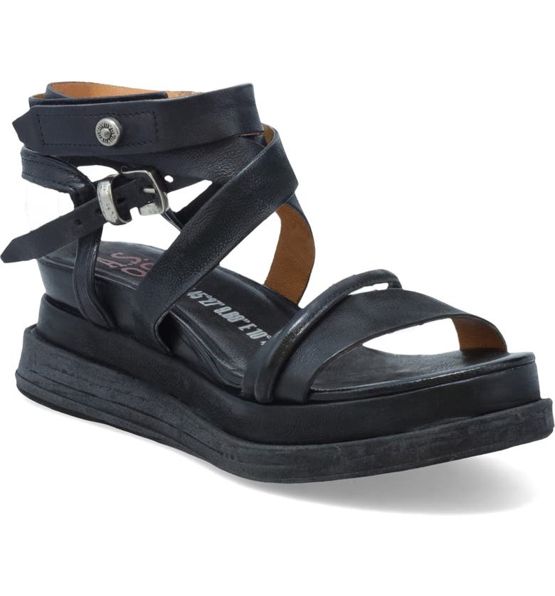 A.S.98 Labo Platform Sandal, Main, color, BLACK