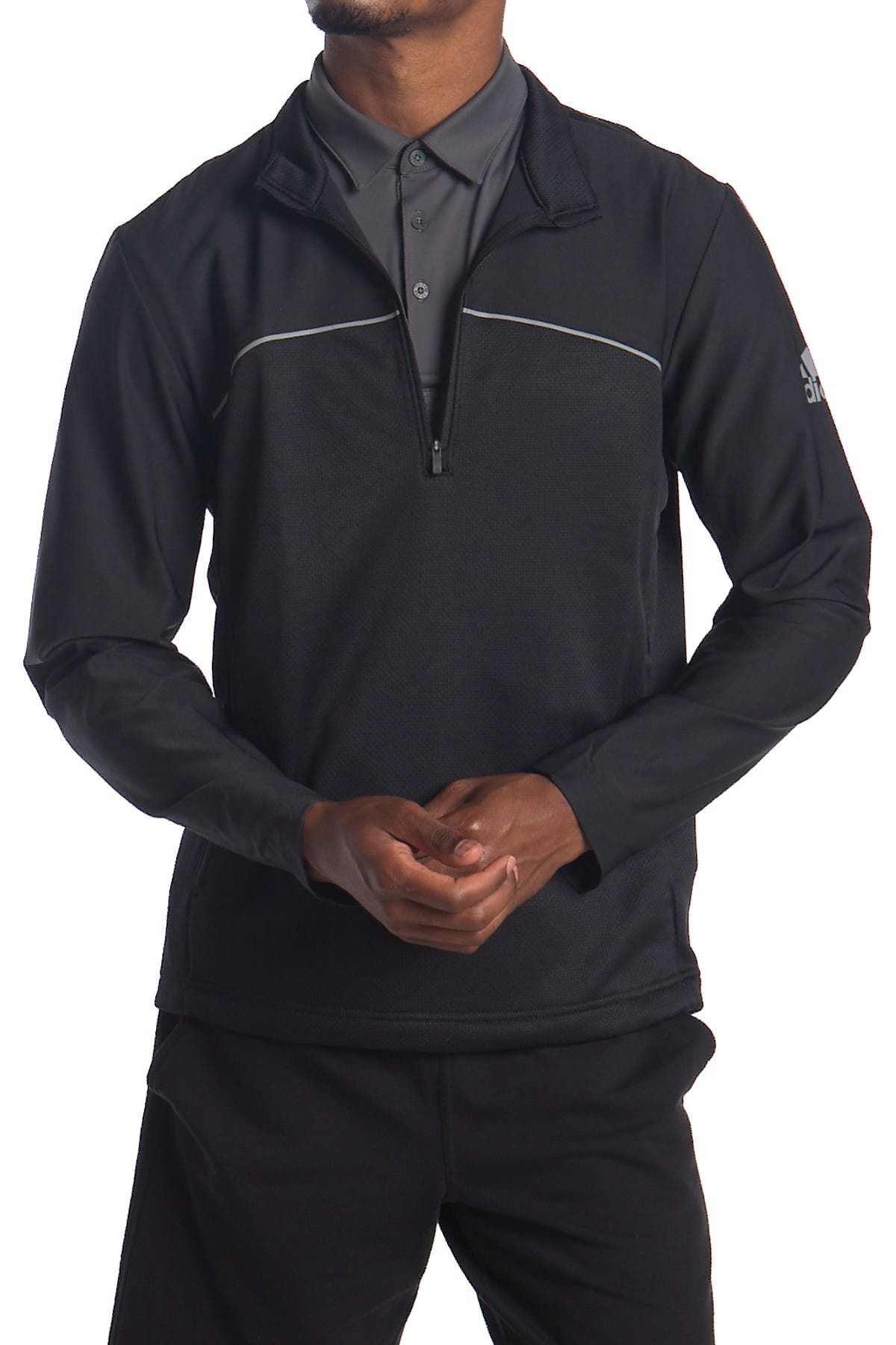 Image of adidas Zip Front Golf Pullover