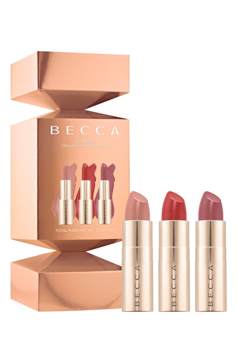 BECCA COSMETICS BECCA Party Popper Mini Ultimate Lipstick Love Set, Main, color, NO COLOR