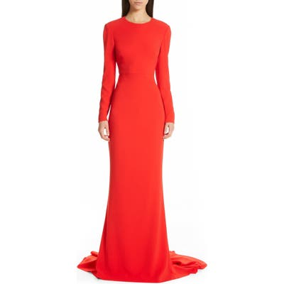 Stella Mccartney Ruby Cutout Sheath Gown, US / 40 IT - Red