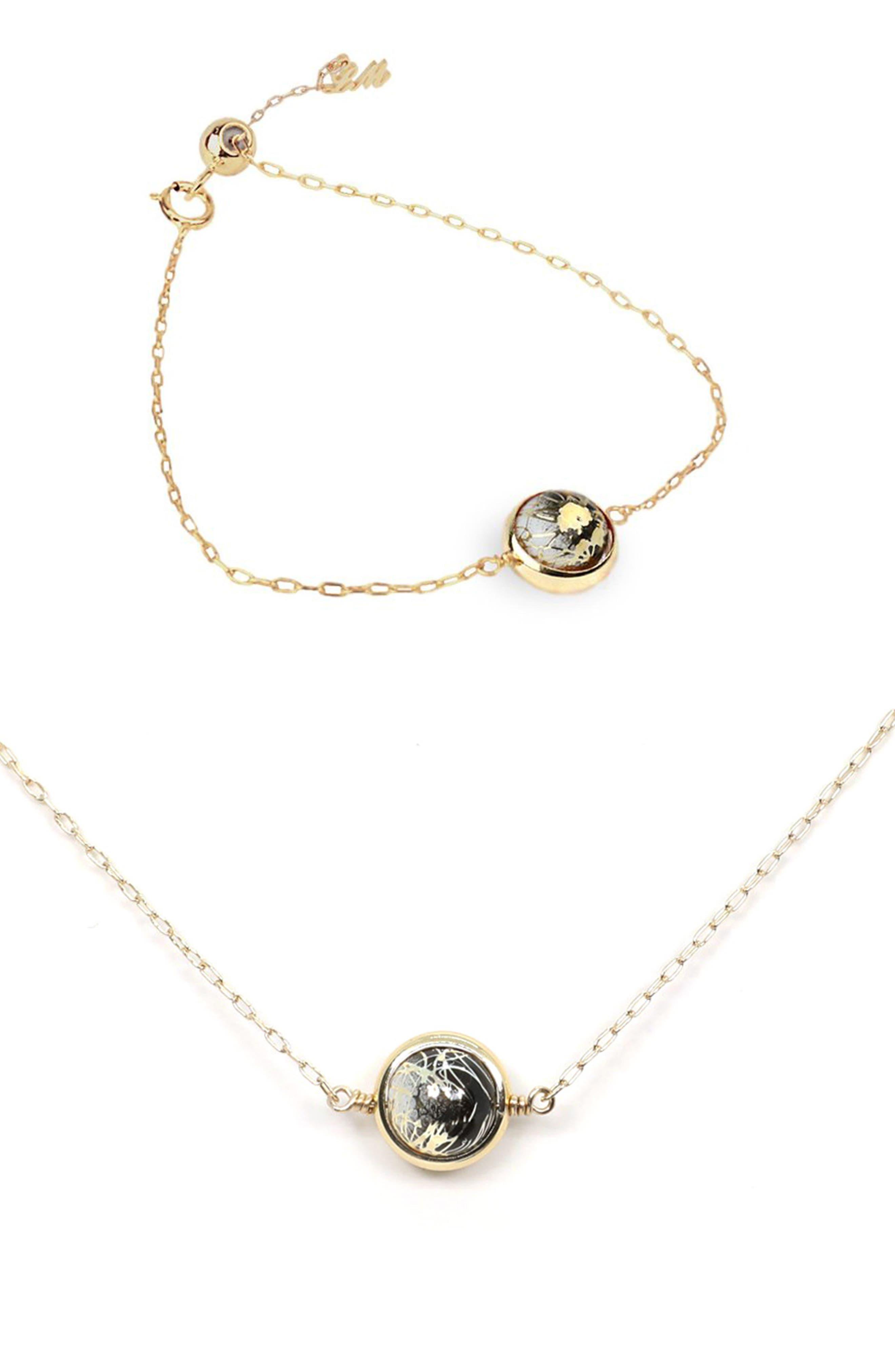 Galaxy Collection Moon Zodiac Bracelet & Necklace