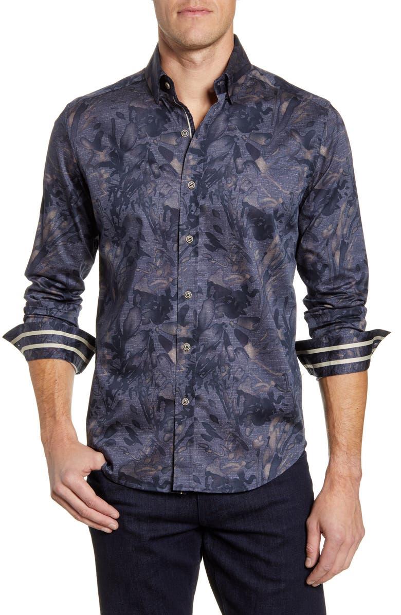 ROBERT GRAHAM Salger Classic Fit Button-Up Sport Shirt, Main, color, CHARCOAL