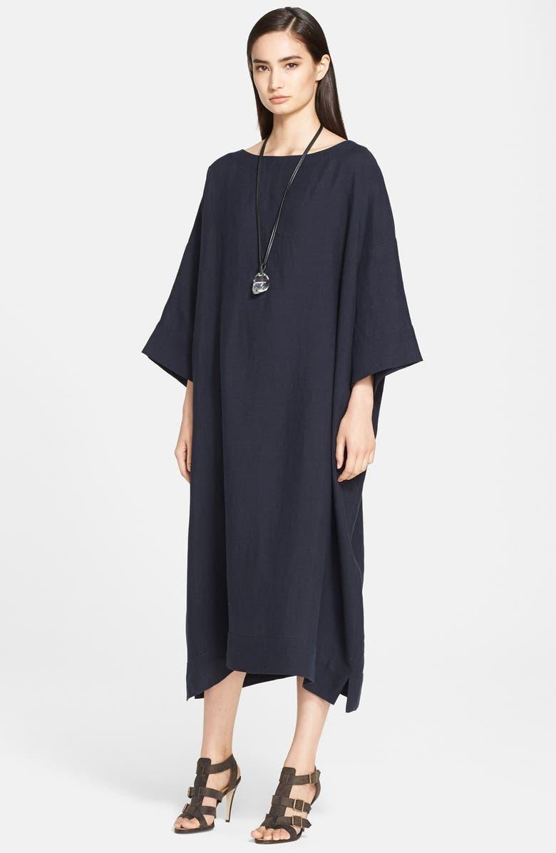 ESKANDAR Lightweight Linen Tunic Dress, Main, color, 410