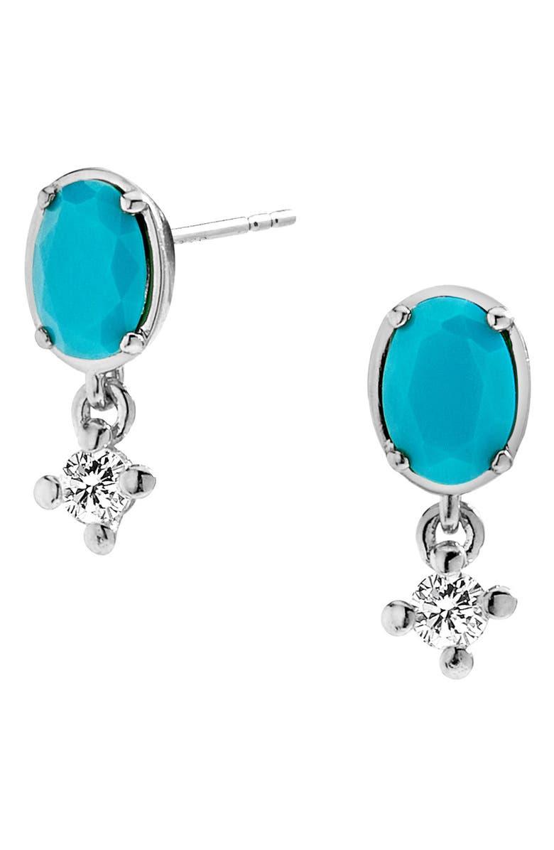 NADRI Jewel Drop Earrings, Main, color, RHODIUM/ CUBIC ZIRCONIA
